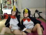 Motherless penguin girls masturbates
