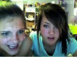 Two stickam girls plays on webcam