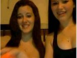 Two friends flash tits on webcam