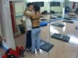 Fast fuck in gym