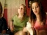 Chatroulette three girls flashing