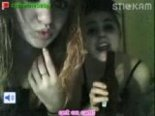 Two drunk girls on stickam