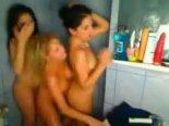Three whore masturbate using toys