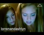 Lorren and Ashlyn stripping on tinychat
