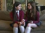 Two schoolgirls sale their pussies
