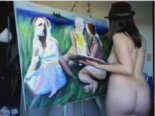 Naked painter on Myfreecams