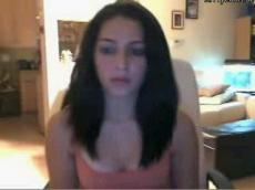 Brunette teen flashing on Omegle