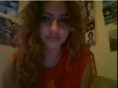 curly blonde teen stands naked on omegle
