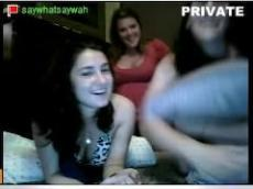 Stickam teens playing on webcam