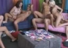 Amateur group sex with eight persons