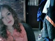Curly girl bates on Omegle, stickam