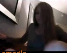 Skinny blonde masturbates on Omegle