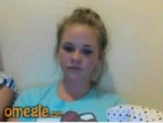 Omegle busty blonde teen