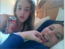 Two lesbian girls on Chatroulette