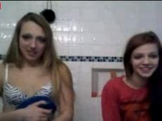 Two girls flashing on Younow