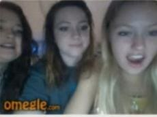 Horny Omegle girls watching on huge cock