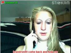 Stickam video blonde girl rubbing clit