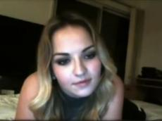 Just perfect blonde fingering on Chatroulette