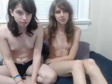 Two college lesbians play on webcam