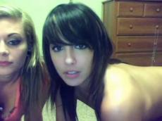 Amazing brunette strip on Skype chat, stickam