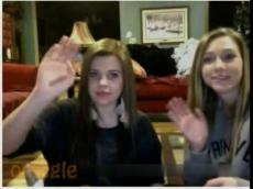 2 Omegle teens flashing, stickam ->