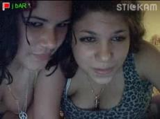 Chubby lesbians on Stickam
