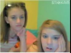Two college roommates flashing on Stickam, stickam
