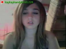 Busty emo teen flashing on Stickam