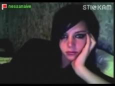 Nessa strip and masturbates on Stickam