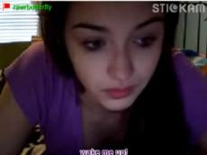 Playing with herself on Stickam