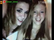 Stickam girl Renee and friends