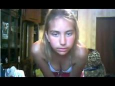 Russian girl gets naked on Vichatter, stickam
